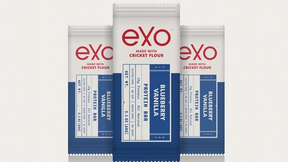 "Made by AccelFoods-backed Exo, these ""cricket flour"""