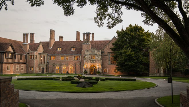 Meadow Brook Hall in Rochester has 39 chimneys, 110 rooms and is modeled on the grand mansions of England. It was completed in 1929.
