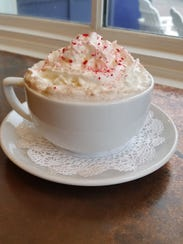 Peppermint hot cocoa at Turning Point