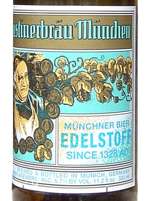 Augustiner Edelstoff beer from Augustiner Brewery in Munich, Germany, is 5.7 percent ABV.
