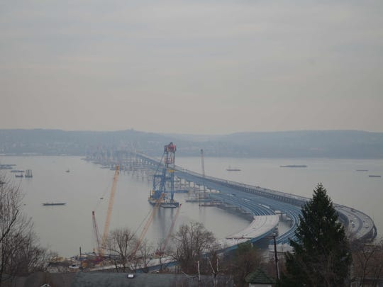 Progress on the roadway of the new Tappan Zee Bridge can be seen in this webcam photo from the project website.