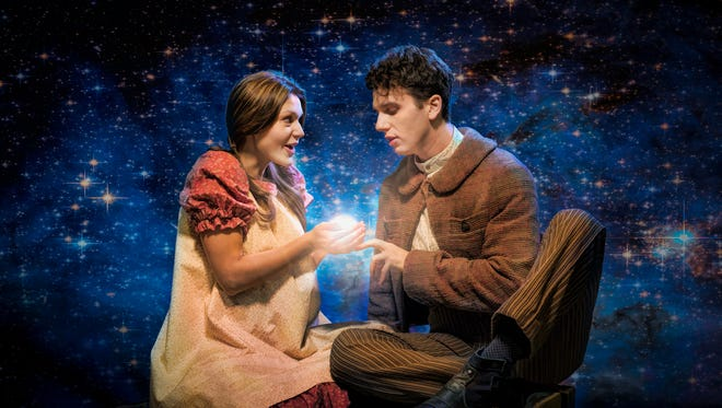 Joanna Howard as Molly Aster and Noah Zachary as Boy in the Cincinnati Playhouse in the Park's production of Peter and the Starcatcher, which runs March 7 – April 4 in the Playhouse's Robert S. Marx Theatre