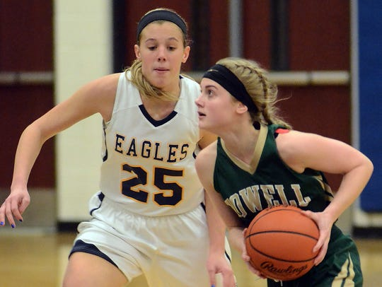 Hartland's Lexey Tobel, who had a game-high 18 points,