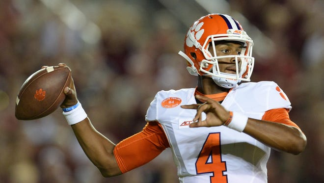 Clemson quarterback Deshaun Watson (4) is among six returning starters for the 12th-ranked Tigers.