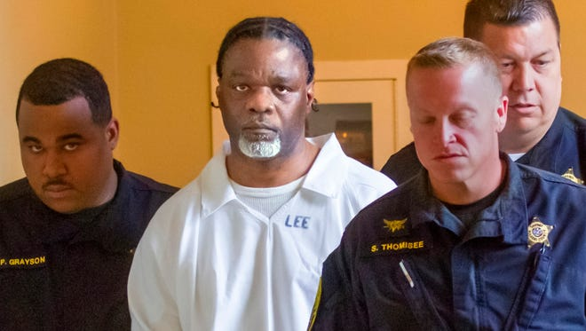 In this Tuesday, April 18, 2017 file photo, Ledell Lee appears in Pulaski County Circuit Court for a hearing in which lawyers argued to stop his execution which is scheduled for Thursday. Unless a court steps in, Lee and Stacey Johnson are set for execution Thursday night. Lee was sentenced to death after being convicted of killing Debra Reese with a tire iron in February 1993 in Jacksonville.