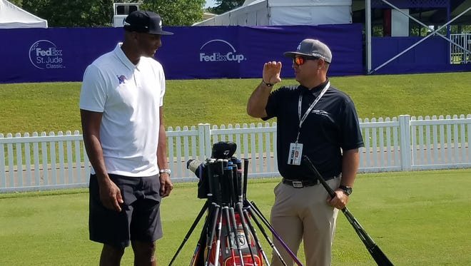 Memphis men's basketball coach Penny Hardaway makes his first appearance at this year's FedEx St. Jude Classic on Tuesday.