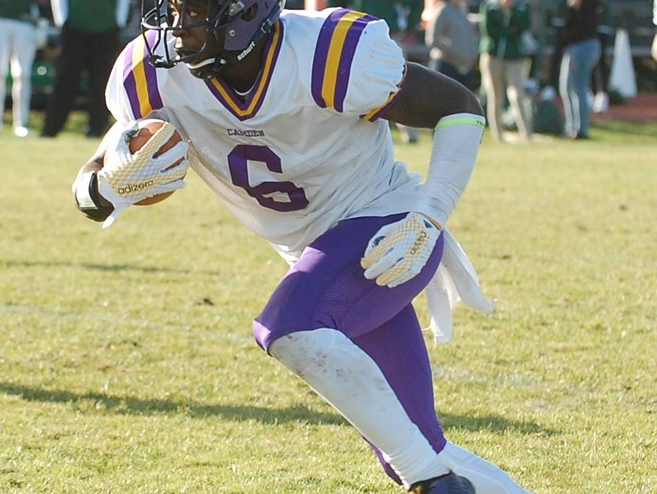 A Michigan recruit, Brad Hawkins has had a solid season on both sides of the ball for Camden.