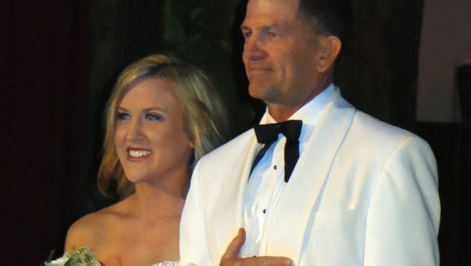 Mazie C. DuBois with her dad, Patric J. DuBois at Plantation Ball.