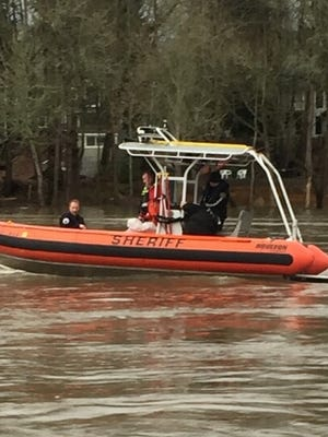 Officials say a woman fell into the Willamette River Wednesday.