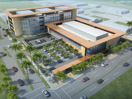 Rendering of the East County Detention Center.