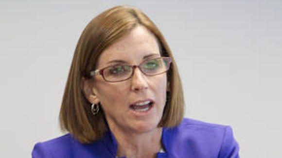 Martha McSally speaks at the The Arizona Republic on Tuesday, Sept. 30, 2014.