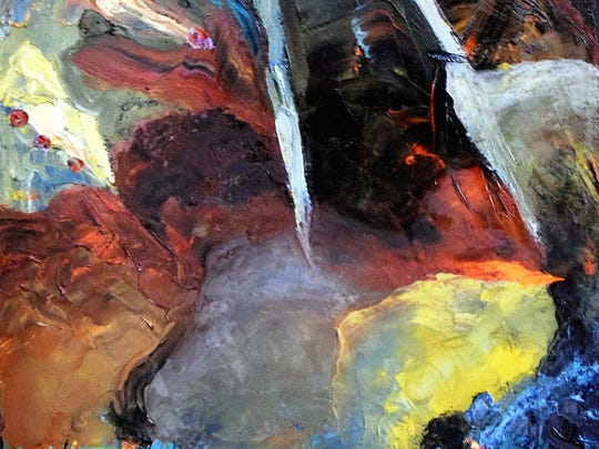 """""""Fissure,"""" a new abstract by Nina Cobb Walker"""