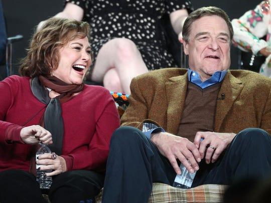 "Sitcom star Roseanne Barr, seen here with TV hubby John Goodman, ran on the ""Green Tea Party"" ticket."