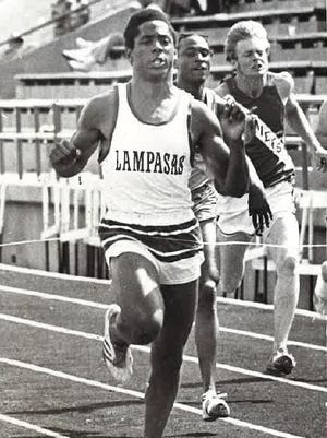 """Johnny """"Lam"""" Jones, from Lampasas High School, had a 1976 track season to remember. In addition to helping his school win the team title at the UIL Texas state track meet, he went on to win an Olympic gold medal that summer at the age of 18."""