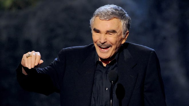 Actor Burt Reynolds accepts award onstage during Spike TV's Guys Choice 2013 at Sony Pictures Studios on June 8, 2013, in Culver City, Calif.