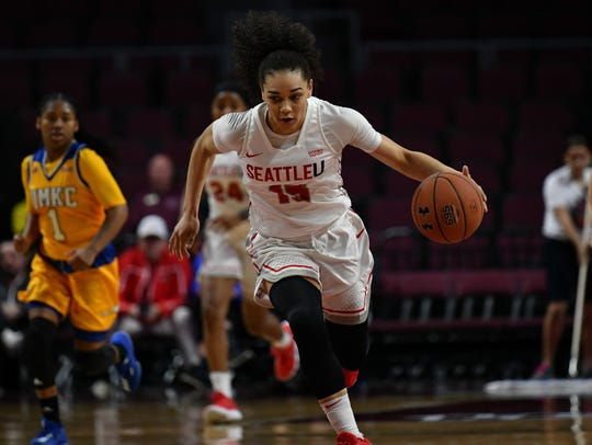 Redding native and Seattle University guard Kamira Sanders was named MVP of the Western Athletic Conference Tournament this past Saturday.