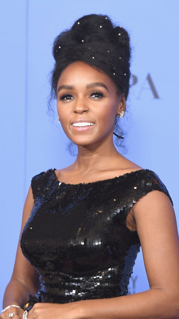 Janelle Monae got creative with pearl pins.