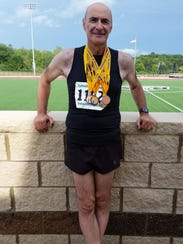 Ralph Cilevitz, 62, added six medals to his collection