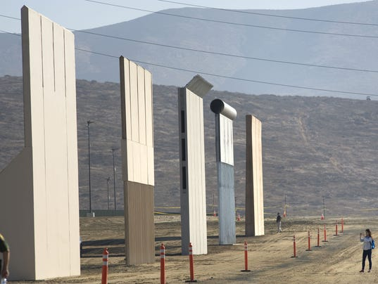 La polémica promesa del muro fronterizo ya cuenta con prototipos terminados