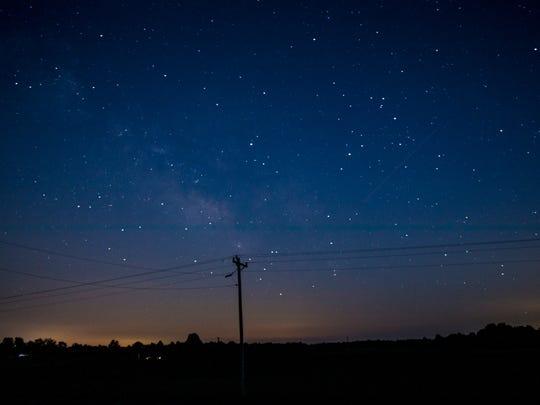 Stars shine over Christian County, Kentucky Monday,