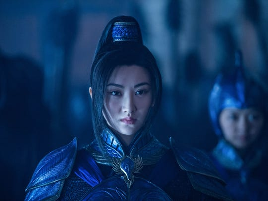 Commander Lin Mae (Jing Tian) leads a military force
