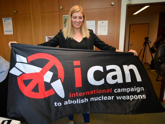 Nuclear disarmament group ICAN executive director Beatrice