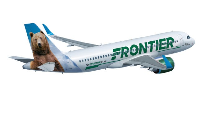 Frontier provided this image of the new paint scheme for its aircraft. The change was announced Sept. 9, 2014.