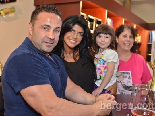 Joe Giudice, Teresa Giudice, Alyssa Focarino and Joanne Focarino. (Photo by Jeremy Smith)