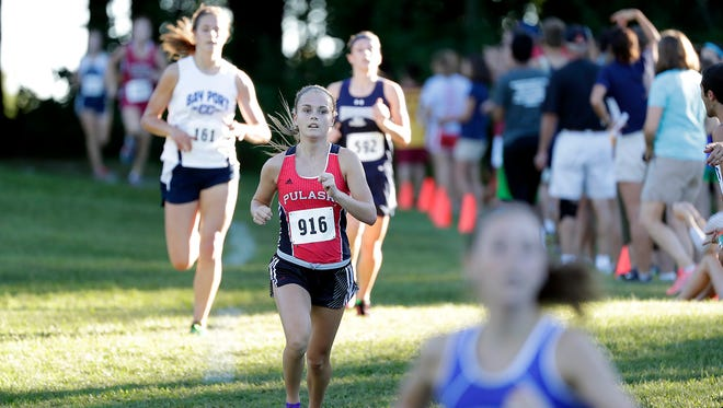 Pulaski sophomore Katie Brockman competes in the Green Bay Southwest Invite at Colburn Park last Thursday. Brockman finished 62nd in the WIAA Division 1 state race last year.