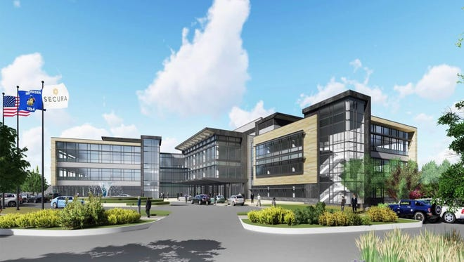 SECURA Insurance will build its new corporate headquarters in Fox Crossing.