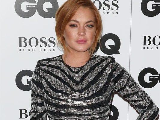 Lindsay Lohan at GQ Men of the Year Awards