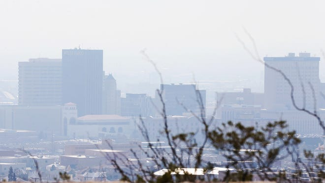 A thick layer of smog hangs low over Downtown El Paso. Some of that smog travels into southern Doña Ana County, making it one of the target areas for the New Mexico Environment Department's ozone reduction plan.