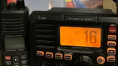 A marine radio such as the one shown above is the best way for boaters to call for help, according to the Ventura Harbor Patrol.