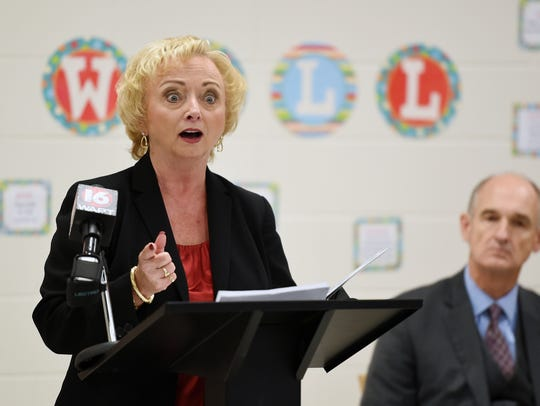 State Superintendent Carey Wright, shown in this file photo, hired Felicia Gavin as chief operations officer for the Mississippi Department of Education. Wright charged her with evaluating the department's accounting and procurement policies, which have come under scrutiny following a PEER report.