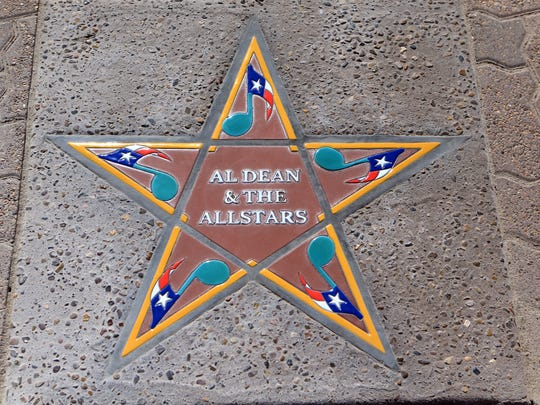Al Dean & The Allstars' star was installed Thursday, May 31, 2017, at the South Texas Music Walk of Fame in Corpus Christi. The six 2017 inductees will be honored Saturday.