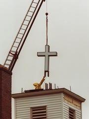 A new cross was put atop Grace Baptist Church in Nanuet