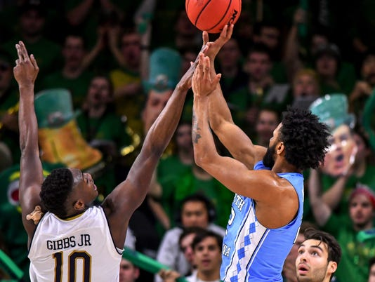 NCAA Basketball: North Carolina at Notre Dame