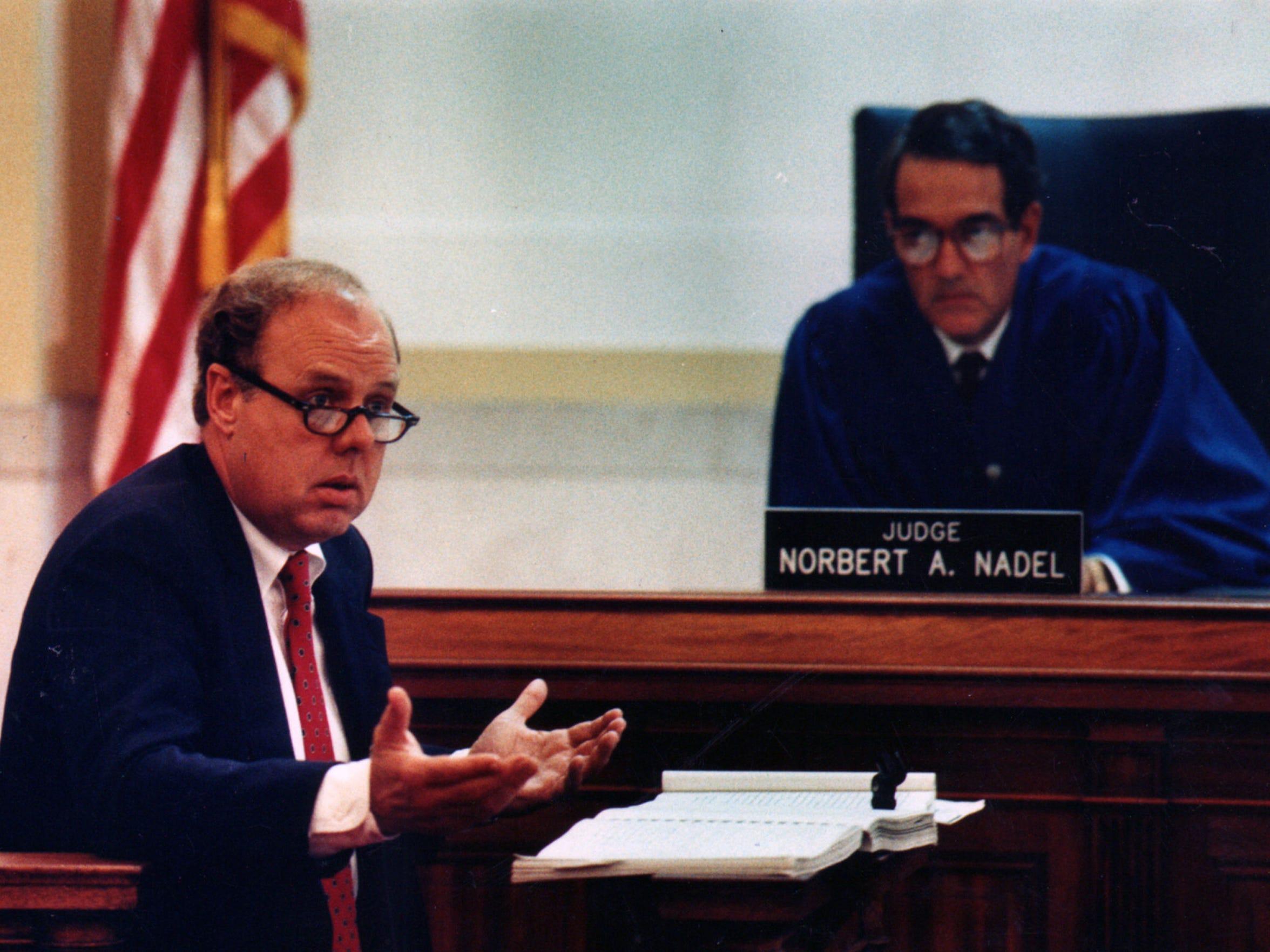 JUNE 22, 1989: Investigator John Dowd testifies before