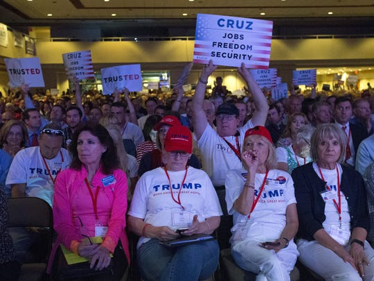 Republicans gather for the Arizona Republican 2016 state convention in April.