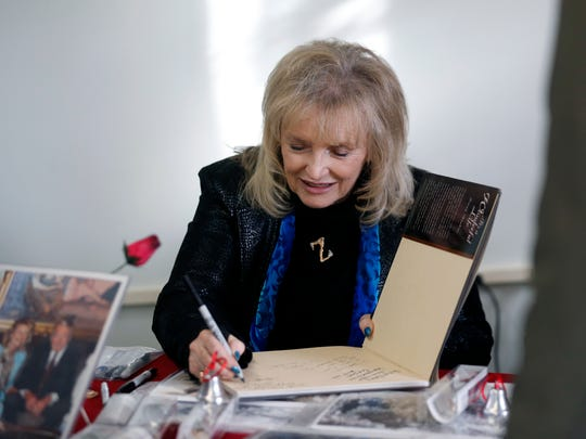 Karolyn Grimes signs autographs for fans during an event at the It's A Wonderful Life Museum in 2016.