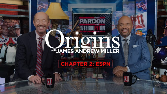 On chapter 2 of James Andrew Miller's 'Origins' podcast, the writer explores the history of ESPN. Yes, Tony Kornheiser and Michael Wilbon, pictured here, are among the ESPN personalities featured in the in-depth series.
