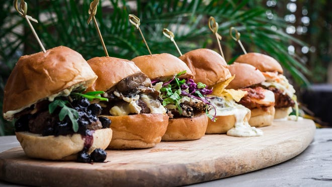A selection of sliders from PNPK, a new restaurant in north Scottsdale.
