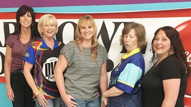 Lori Whitney, from left, Sheryll Hirschi, Sarah Riddle, Karen Kleinstuber and Britney Harding.