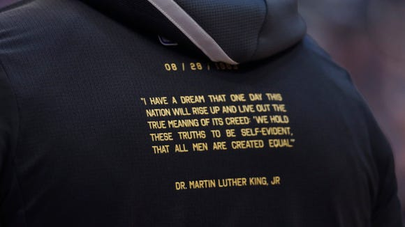 See the shirts NBA players are wearing to honor Martin Luther King Jr.
