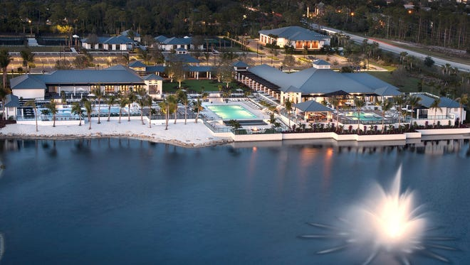 Kalea Bay's main amenity area includes the community's clubhouse with three separate pools, sundecks, an indoor/outdoor restaurant, an open-air bar and an internet café.