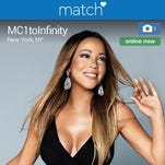 "Mariah Carey launched a profile in June on Match.com to premiere her music video for the single, ""Infinity."""