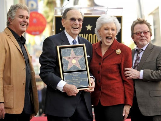 636225886908607313-1.-Hal-David-receiving-Hollywood-Walk-of-Fame-star-2011.-With-Steve-Tyrell-Eunice-and-Paul-Williams---credit-Ron-Rosen-provided-by-Eunice-David.jpg