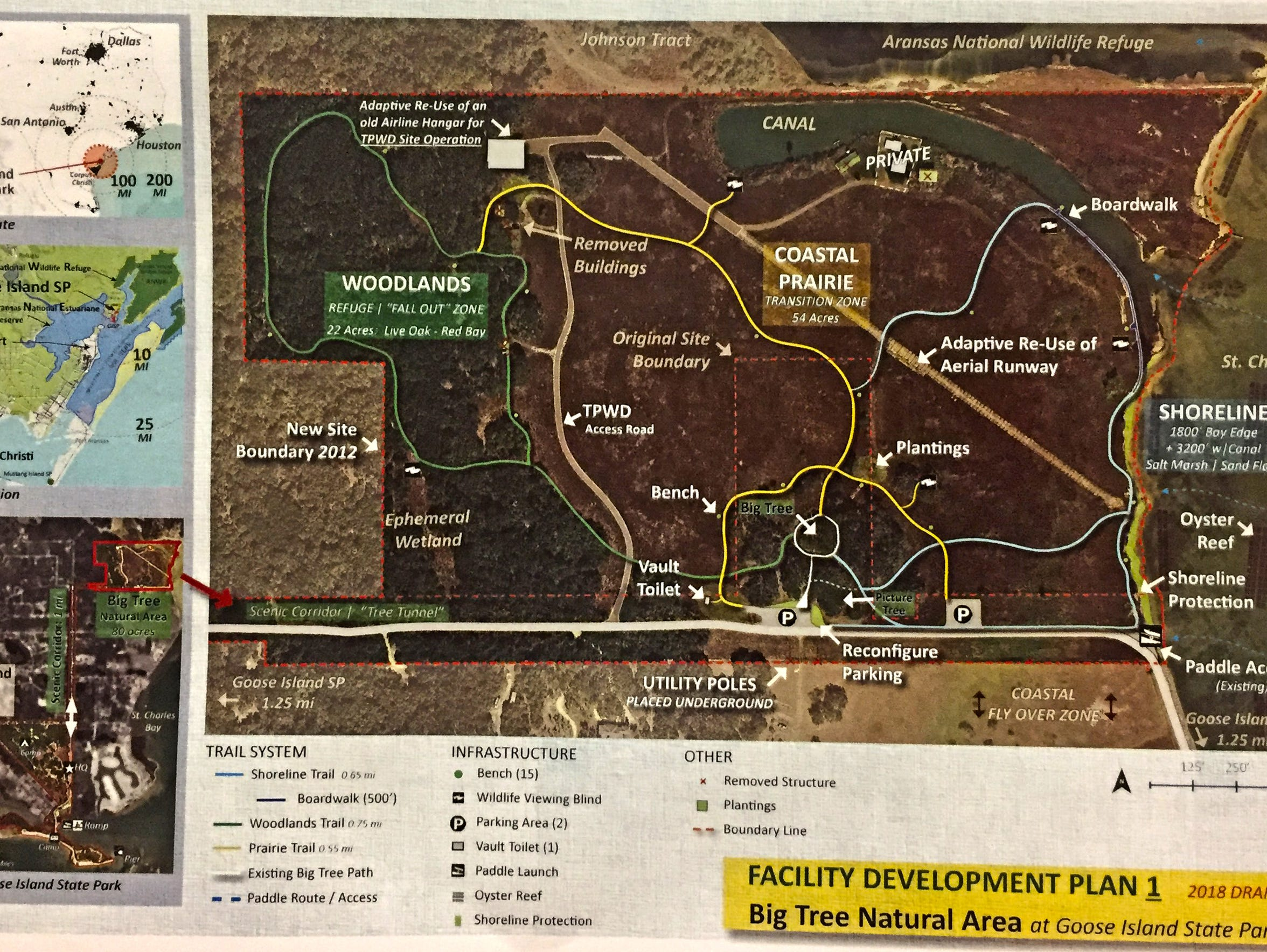 This is a revised plan of proposed developments on