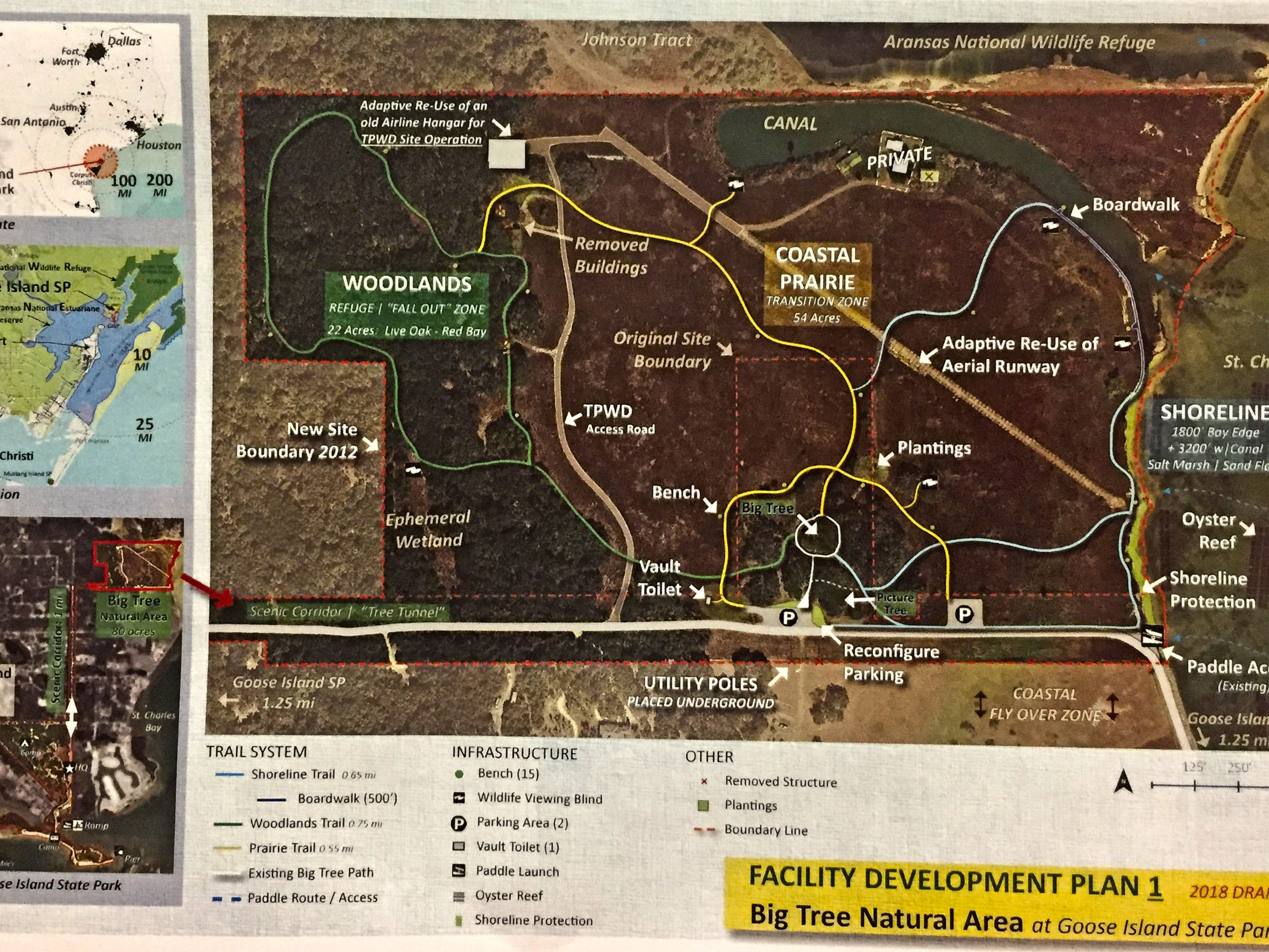 This is a revised plan of proposed developments on the Big Tree property, but this is not the final plan.