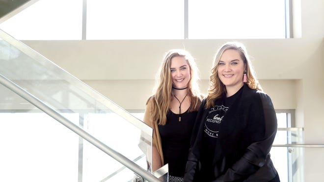Lexie and Lindsay Kite, founders of Beauty Redefined, are photographed in Salt Lake City on Friday, Dec. 8, 2017.